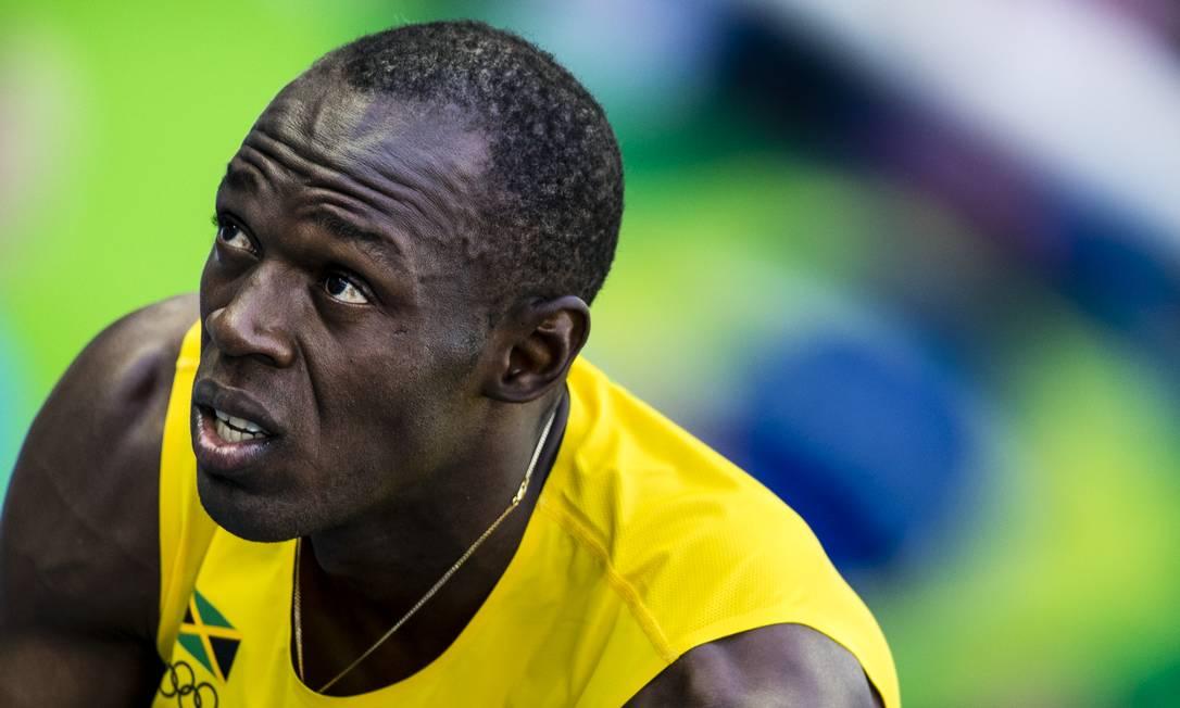 Bolt concentrado antes de disparar até a linha de chegada Adriano Vizoni / Folhapress/NOPP