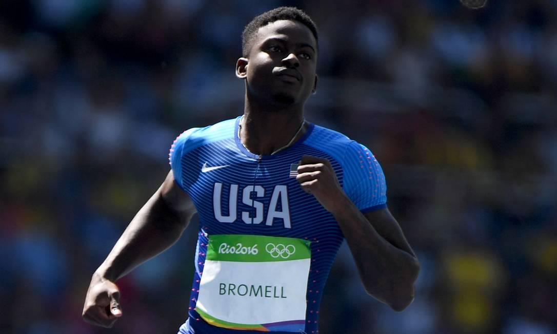 Nos campeonatos universitários a céu aberto, Bromell foi o primeiro calouro a vencer a prova dos 100m rasos desde 2005 OLIVIER MORIN / AFP