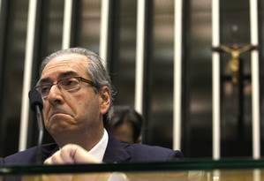 O deputado federal afastado Eduardo Cunha (PMDB-RJ) Foto: Agência O Globo/6-8-2015 / Givaldo Barbosa