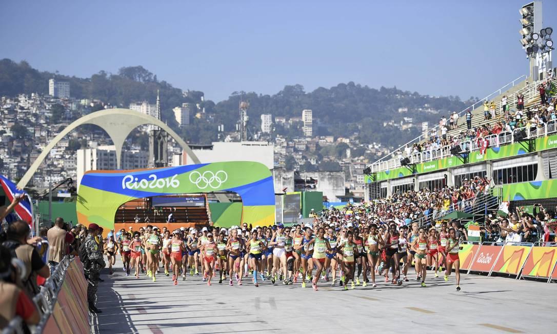 A corrida reúne mais de 150 atletas DYLAN MARTINEZ / REUTERS