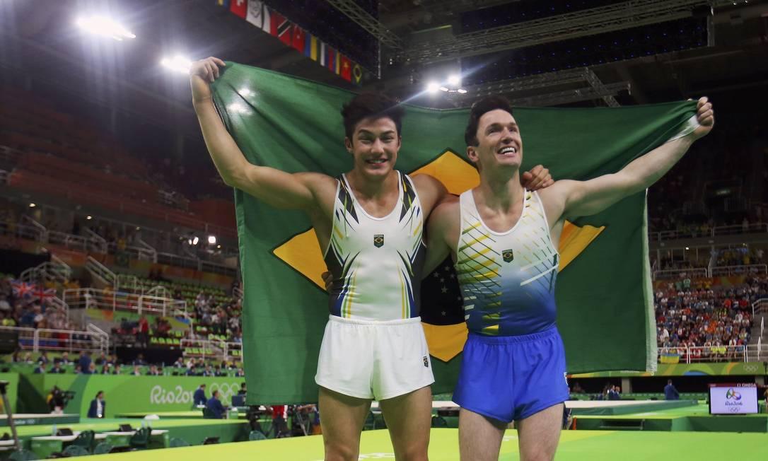 Brasil teve, pela primeira vez, dois atletas individuais no pódio na ginástica artística em uma Olimpíada MIKE BLAKE / REUTERS