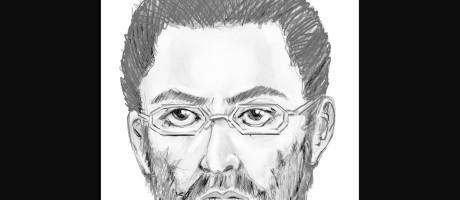 Retrato falado do suspeito, que foi visto com uma arma nas mãos fugindo da cena do crime, no popular distrito de Queens Foto: AP