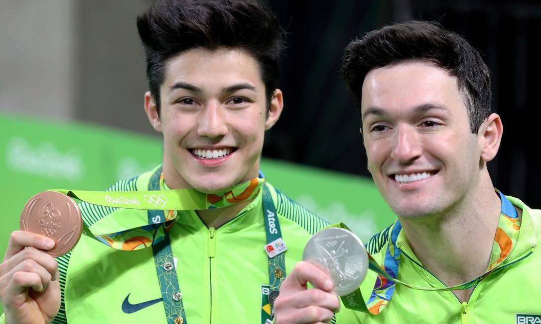Diego Hipólito e Arthur Nory são prata e bronze no solo Marcelo Carnaval / Agência O Globo