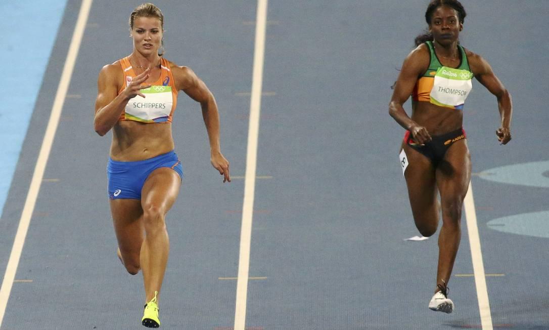 Dafne Schippers durante a classificação para a final dos 100m DAVID GRAY / REUTERS