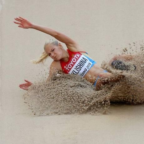 Saltadora russa foi readmitida nos Jogos do Rio Foto: Dylan Martinez / REUTERS