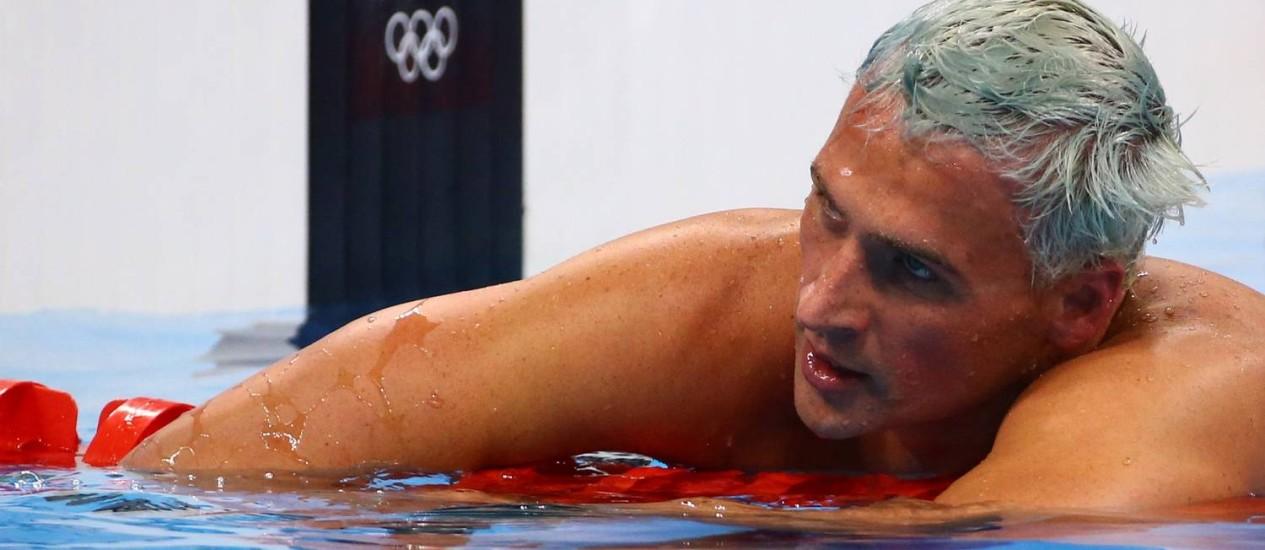 O nadador americano Ryan Lochte disputa prova no Rio-2016 Foto: DAVID GRAY / REUTERS