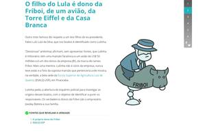 Site traz mitos e verdades sobre Lula Foto: Reprodução