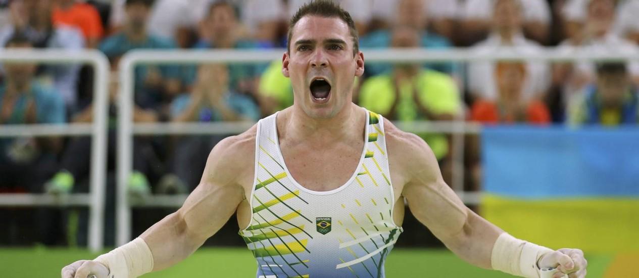 O brasileiro Arthur Zanetti, prata nas argolas Foto: MIKE BLAKE / REUTERS