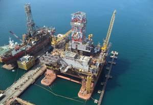 Plataforma da Sete Brasil: empresa busca investidor para levantar US$ 5 bilhões Foto: Divulgação/21-4-2016