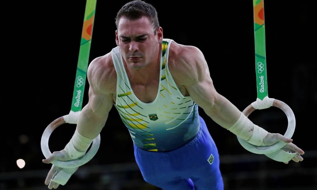 O brasileiro foi derrotado pelo grego Eleftherios Petrounias, atual campeão mundial no aparelho THOMAS COEX / AFP