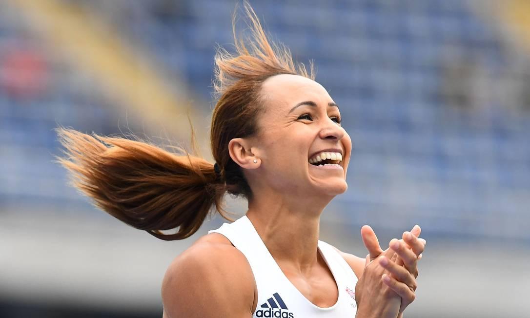 Jessica Ennis, da Grã-Bretanha, durante evento de atletismo FRANCK FIFE / AFP