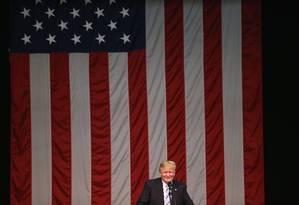 Donald Trump faz discurso a apoiadores em Connecticut Foto: JOHN MOORE / AFP