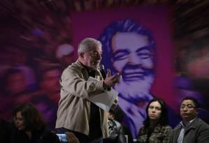 Ex-presidente Lula particicipa de encontro com mulheres no ABC Foto: Marcos Alves / Agência O Globo