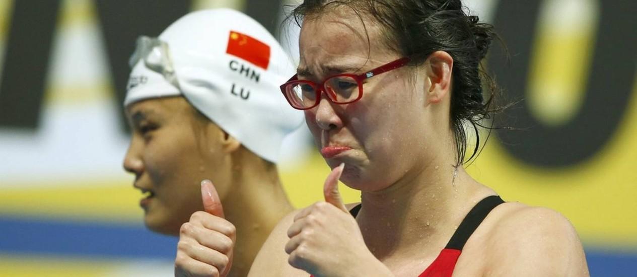 Fu Yuanhui disse que sentiu cansaço ao nadar no dia seguinte em que menstruação chegou Foto: Hannibal Hanschke / Reuters