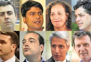 Candidados a prefeito do Rio Foto: Fotos/O GLOBO