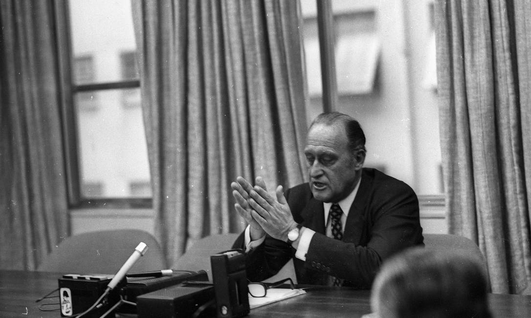 João Havelange, em 1974, já como presidente da Fifa, cargo que ocupou por 24 anos, até 1998 Foto Luis Paulo / O GLOBO