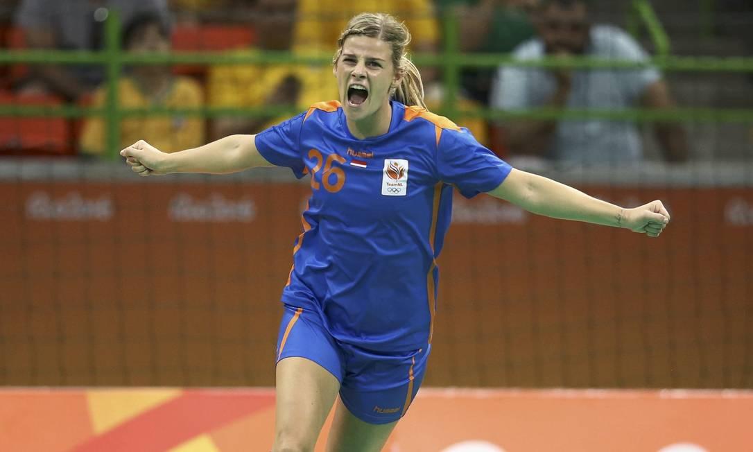 Angela Malestein reage a gol da Holanda MARKO DJURICA / REUTERS