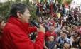 Fernando Haddad discursa no primeiro dia de campanha das eleições municipais em São Paulo