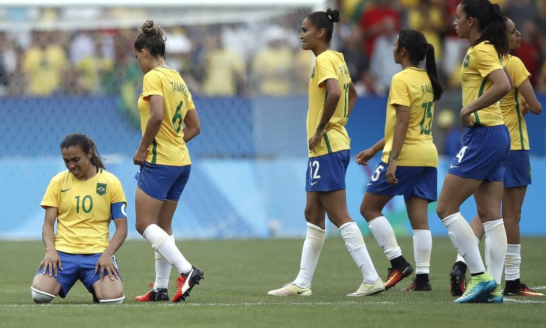Marta chora após o Brasil ser eliminado nos pênaltis André Mourão / O Dia / NOPP