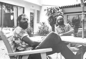 João Bosco e Aldir Blanc, que se conheceram em 1971, compuseram juntos a suíte sobre uma Lapa sem a magia de outrora, em 1973: primeiro registro foi arquivado por gravadora Foto: Arquivo / Luiz A. Barros