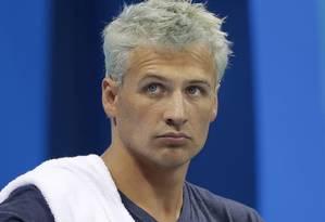 Nadador americano Ryan Lochte antes de prova nos Jogos Foto: Michael Sohn / AP