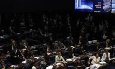 Plenário do Senado durante votação de pronúncia do processo de impeachment no dia 10 de agosto Foto: Givaldo Barbosa / Agência O Globo