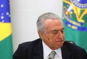 O presidente interino Michel Temer Foto: Ailton de Freitas / Agência O Globo