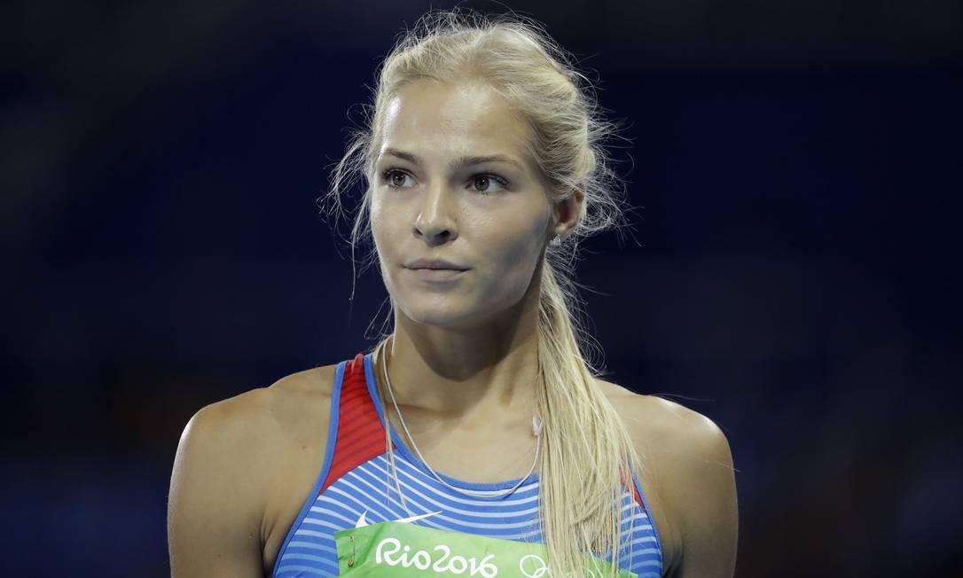 A atleta russa Darya Klishina disputou a final do salto em distância Matt Dunham / AP