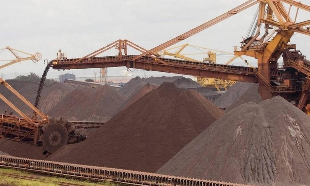 A cotação do minério de ferro na China disparou após o anúncio da Vale de que vai desativar todas as barragens que usam a mesma metodologia para depósito de rejeitos que a de Brumadinho Foto: Marcos Issa / Bloomberg News
