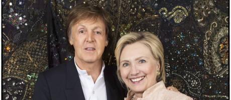 Paul McCartney e Hillary Clinton se encontraram em um evento em Cleveland, Ohio Foto: Reprodução Twitter