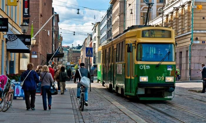 Helsinque é uma cidade de transporte público bem desenvolvido Foto: City Clock Magazine
