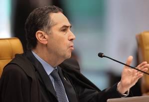 O ministro Luís Roberto Barroso, durante sessão do Supremo Tribunal Federal Foto: Divulgação / STF