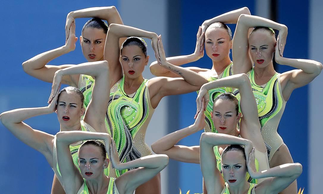 Apresentação das atletas da Ucrânica Wong Maye-E / AP