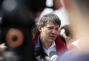 Haddad em ato de campanha na Zona Sul de São Paulo Foto: Edilson Dantas/Agência O Globo