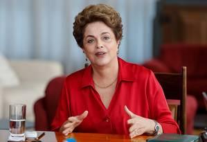 A presidente afastada, Dilma Rousseff Foto: Divulgação 18/08/2016