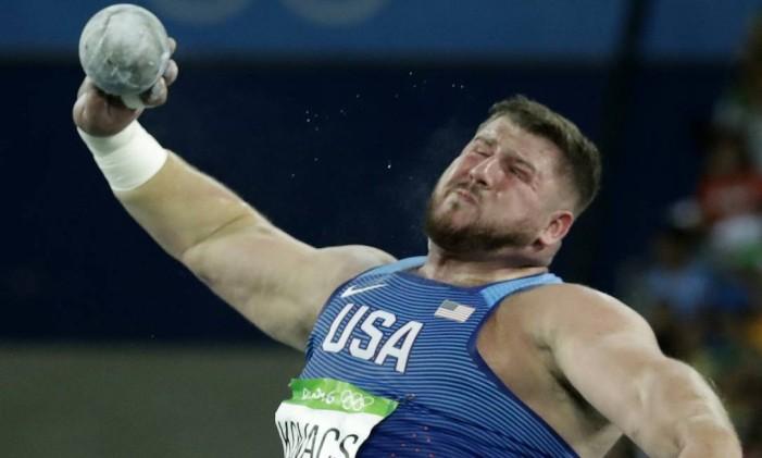 Joe Kovacs, recordista olímpico no arremesso de peso Foto: Matt Dunham / AP