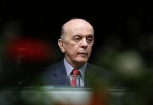 Mudança. José Serra defende que o bloco seja presidido por um colegiado com representantes dos países fundadores Foto: Edilson Dantas / Agência O Globo