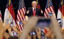 Donald Trump faz discurso de campanha em Charlotte, Carolina do Norte Foto: Gerald Herbert / AP
