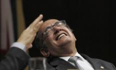 O presidente do Tribunal Superior Eleitoral (TSE), ministro Gilmar Mendes, durante Seminário de Direito Constitucional e Administrativo, no Conselho da Justiça Federal, em Brasília Foto: Givaldo Barbosa / Agência O Globo