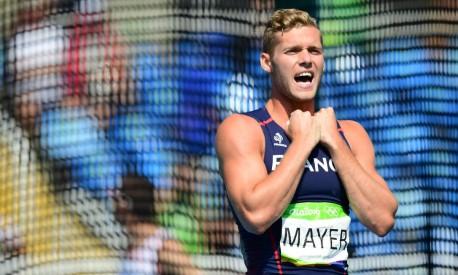Kevin Mayer ficou com a medalha de prata no decatlo Foto: FRANCK FIFE / AFP
