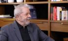 O ex-presidente Luiz Inácio Lula da Silva durante entrevista à BBC Brasil Foto: Instituto Lula