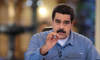 Nicolás Maduro fala em pronunciamento televisionado semanal em Caracas Foto: HANDOUT / REUTERS