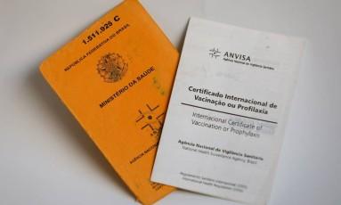Certificado de vacinação para viagens Foto: Pablo Jacob / Agência O Globo