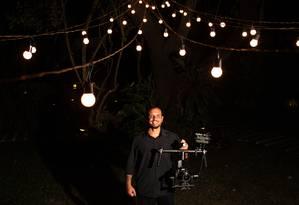 Luis Araújo montou uma empresa de filmagens após ser demitido Foto: Divulgação