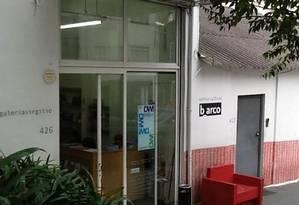 Fachada. Na Galeria Virgílio, funciona o Centro Cultural b_arco Foto: Divulgação