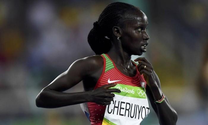 Queniana Vivian Cheruiyot, vencedora dos 5 mil metros Foto: DYLAN MARTINEZ / REUTERS