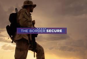 Anúncio de Trump destaca defesa das fronteiras Foto: Reprodução