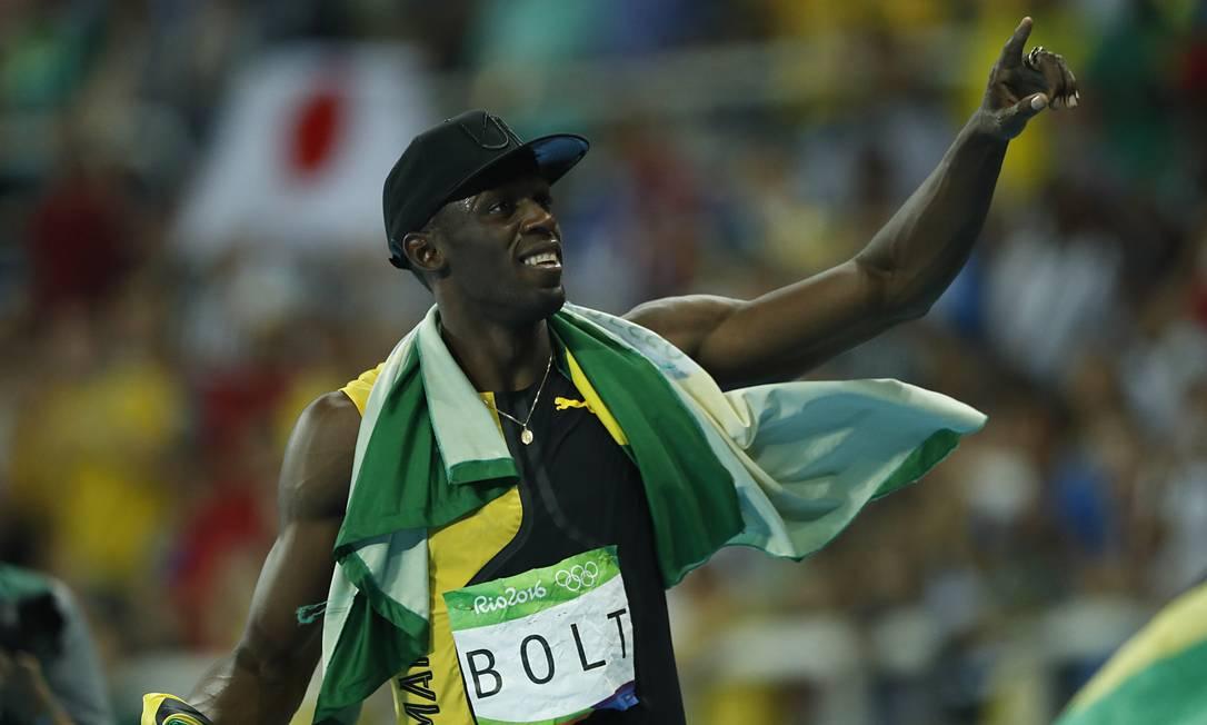 Prestes a completar 30 anos, no domingo, Bolt encerra a carreira olímpica com nove medalhas de ouro Jorge William / Agência O Globo