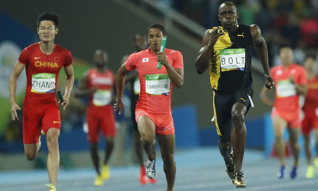 Usain Bolt dá adeus ao Estádio Olímpico do Rio com o ouro no revezamento 4x100m Jorge William / Agência O Globo