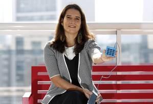 Outra cultura. Adriana Albuquerque, diretora da iZettle, teve de convencer os suecos a concordarem com parcelas Foto: O Globo / Edilson Dantas